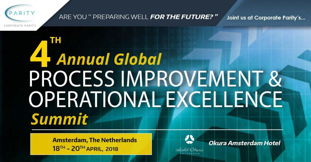 Morphis Tsalikidis speaking at 4th Global Process Improvement and Operational Excellence Summit in Amsterdam, Netherlands