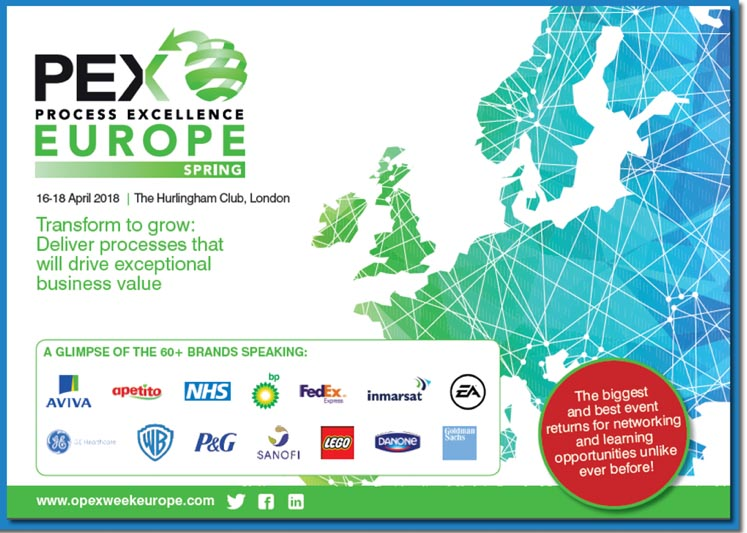 Morphis Tsalikidis speaking at PEX Process Excellence Conference in London, UK