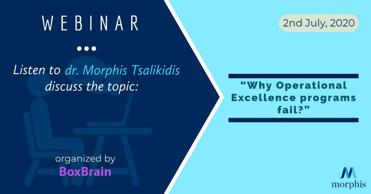 Listen to dr. Morphis Tsalikidis speak at the webinar organized by BoxBrain from Pakistan