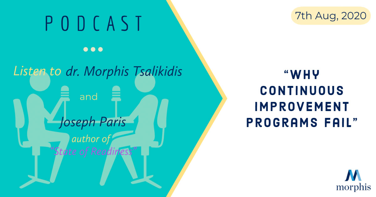 Listen to dr. Morphis Tsalikidis speak at the podcast organized by Joseph Paris, author of State of Readiness, August 2020