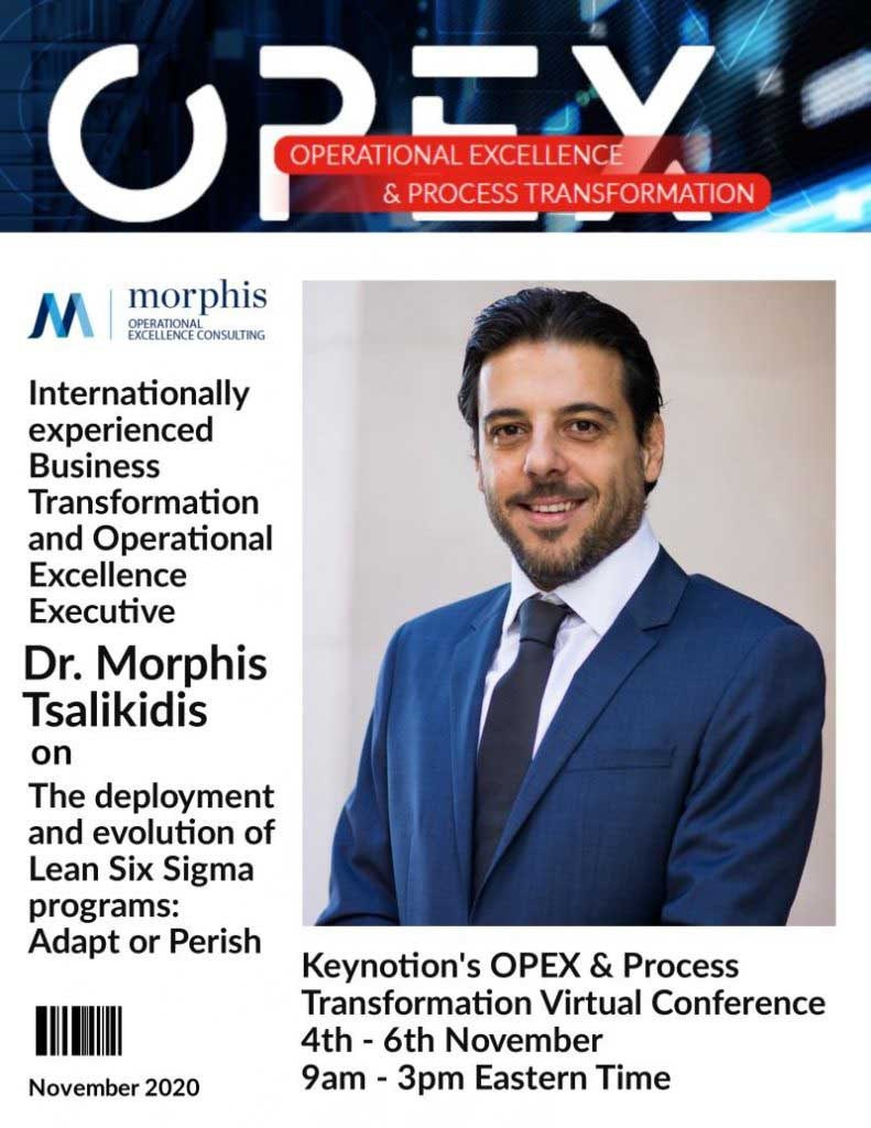 Morphis Tsalikidis speaking at OPEX & Process Transformation Virtual Conference, Nov 2020
