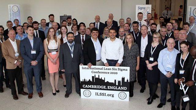 Morphis Tsalikidis speaking at International Lean Six Sigma Institute Conference 2020, in Cambridge, UK